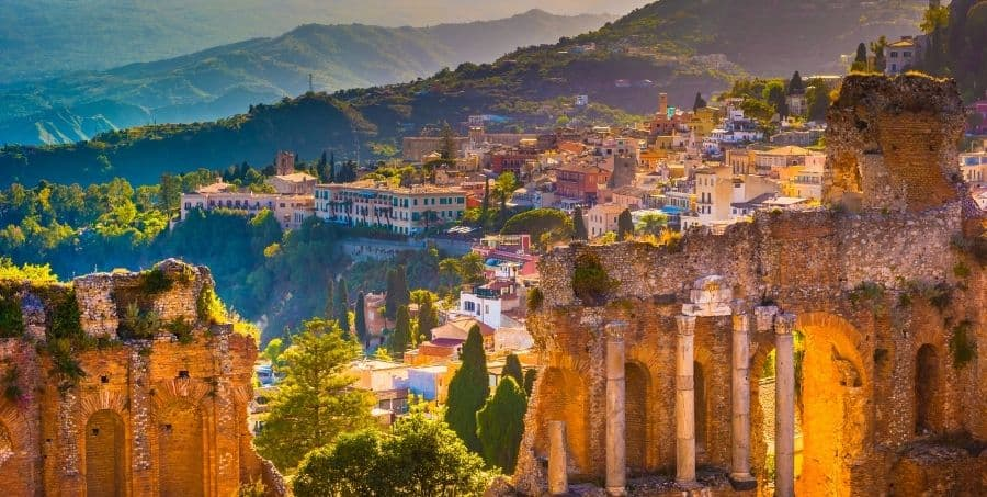 Visit Taormina Greek theatre on a guided Sicily tour